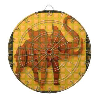 Elephant Decorative Button Art FUNNY GIFTS love al Dartboard With Darts