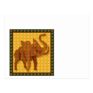 Elephant Decorative Button Art FUNNY GIFTS love al Postcard