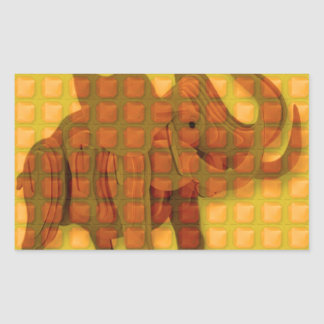 Elephant Decorative Button Art FUNNY GIFTS love al Rectangle Stickers