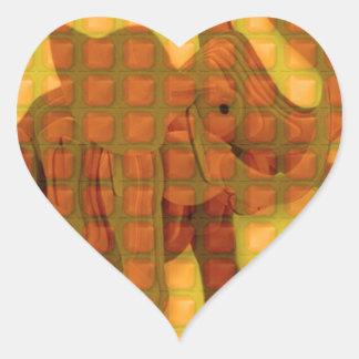 Elephant Decorative Button Art FUNNY GIFTS love al Heart Sticker