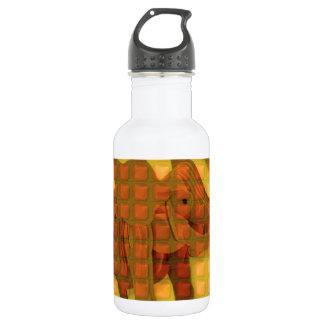 Elephant Decorative Button Art FUNNY love al 18oz Water Bottle