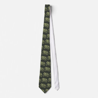 Elephant design from India Tie