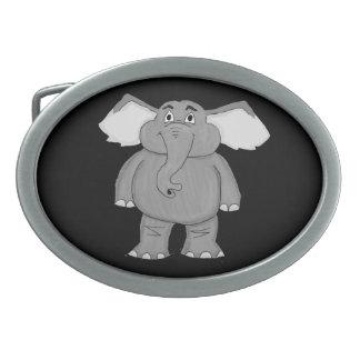 Elephant design matching jewelry set oval belt buckles