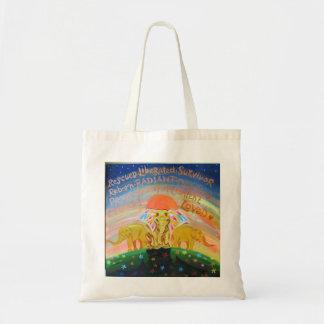 Elephant design tote bag