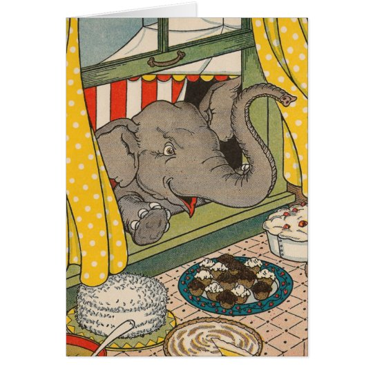 Elephant Desserts Card