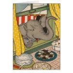 Elephant Desserts Greeting Card