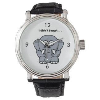 Elephant Didn't Forget Cartoon Watch