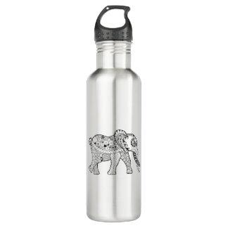 Elephant Doodle 710 Ml Water Bottle