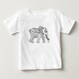 Elephant Doodle Baby T-Shirt
