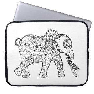 Elephant Doodle Laptop Sleeve