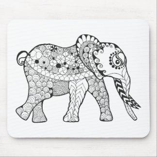 Elephant Doodle Mouse Mat