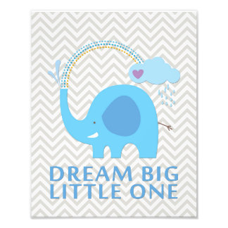 Elephant Dream Big Little One Nursery Art Photo Print
