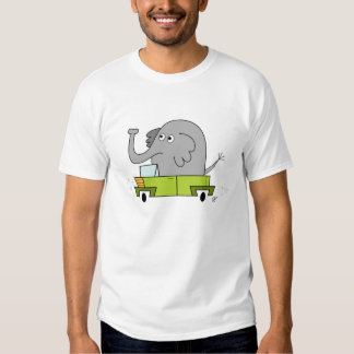 Elephant Driving a Car - Toddler's T-Shirt