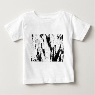 Elephant Ear Cactus in Black and White Baby T-Shirt