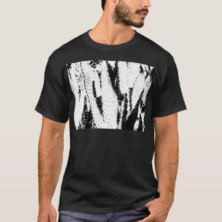 Elephant Ear Cactus in Black and White T-Shirt