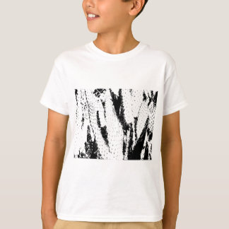 Elephant Ear Cactus in Black and White Tshirt
