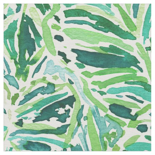 ELEPHANT EARS Green Tropical Leaves Fabric