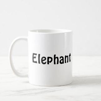 elephant, Elephant Classic White Coffee Mug