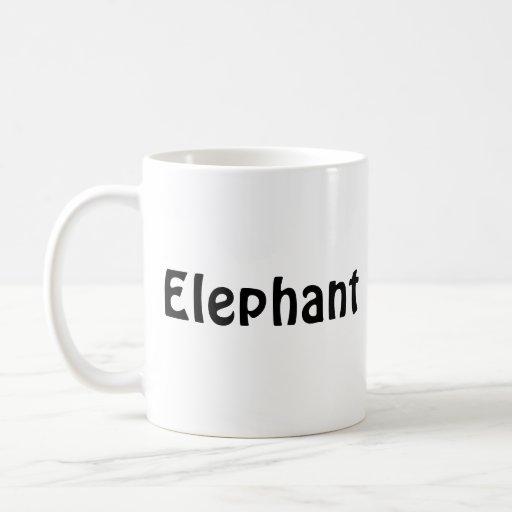 elephant, Elephant Coffee Mugs