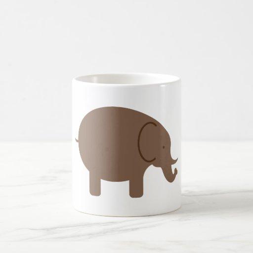 Elephant Elephants Pachyderm Cute Cartoon Animal Coffee Mugs