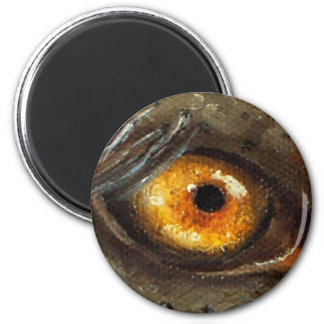 Elephant Eye 6 Cm Round Magnet