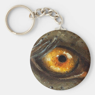 Elephant Eye Basic Round Button Key Ring