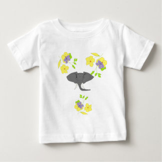 Elephant Face Baby T-Shirt