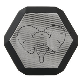 Elephant face silhouette black bluetooth speaker