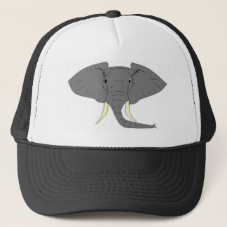 Elephant Face Trucker Hat