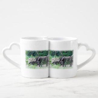 elephant-family-2 couple mugs