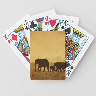 Elephant Family Bicycle Playing Cards