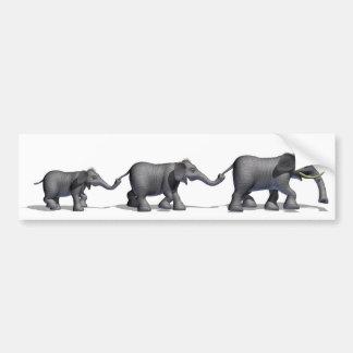 Elephant family Bumper Sticker