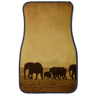 Elephant Family Car Mat