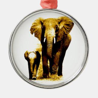 Elephant Family Christmas Ornament