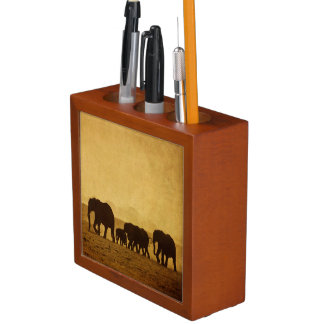 Elephant Family Desk Organiser