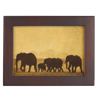 Elephant Family Keepsake Box