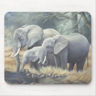 """Elephant Family"" Mousemat"