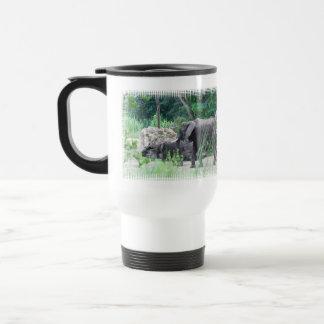 Elephant Family  Plastic Travel Mug
