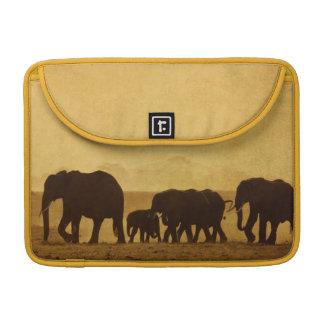 Elephant Family Sleeve For MacBooks