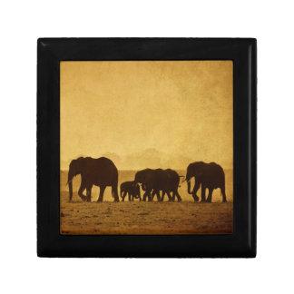 Elephant Family Small Square Gift Box