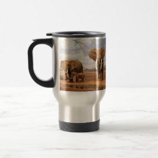 Elephant Family Stainless Steel Travel Mug
