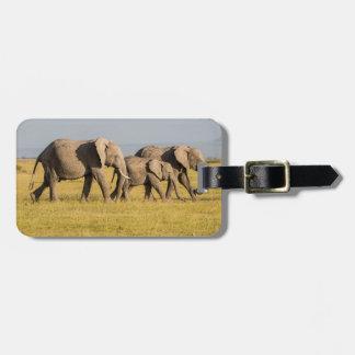 Elephant Family Walking Luggage Tag