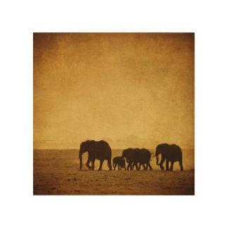 Elephant Family Wood Prints