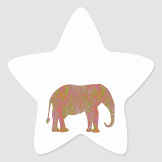 ELEPHANT Fantasy Artistic Color Shade lowprice Sticker