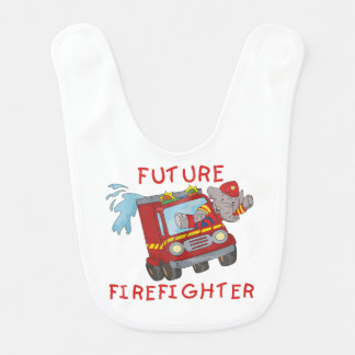 Elephant Firefighter in Fire Engine Bib