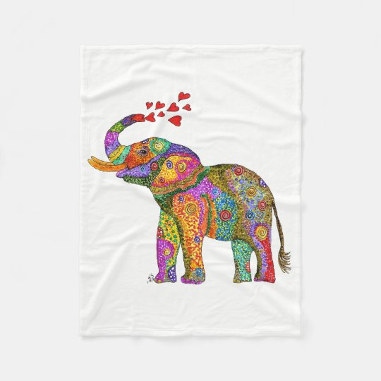 Elephant Fleece Blanket (You can Customise)