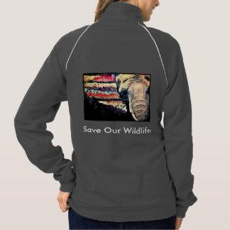Elephant Fleece Jacket