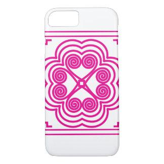 Elephant Footprint Motif in Pink iPhone 7 Case