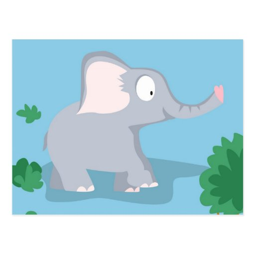 Elephant from my world animals serie post cards