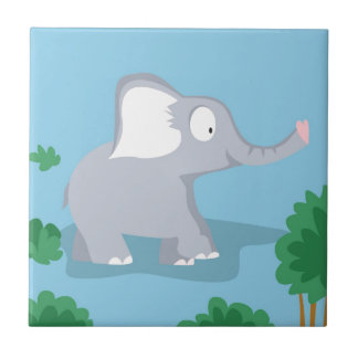 Elephant from my world animals serie tile